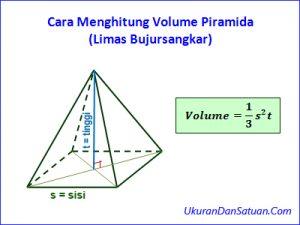 Cara menghitung volume piramida