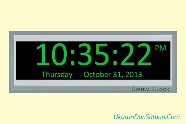 Waktu jam menit detik