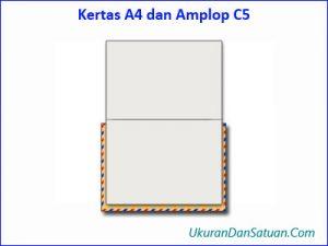 Kertas kuarto A4 dan amplop C5