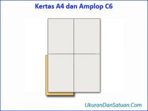 Kertas kuarto A4 dan amplop C6