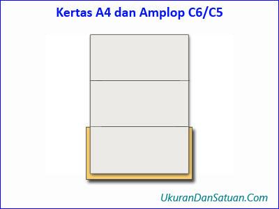 Kertas kuarto A4 dan amplop C6/C5