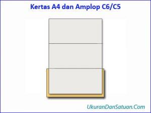 Kertas A4 dan amplop C6/C5