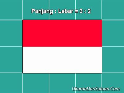 Perbandingan panjang lebar bendera merah putih