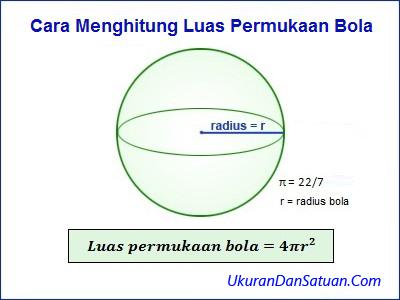 Rumus menghitung luas permukaan bola