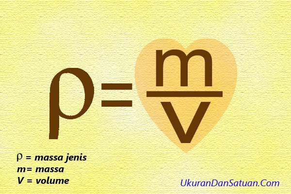 Rumus menghitung densitas atau massa jenis