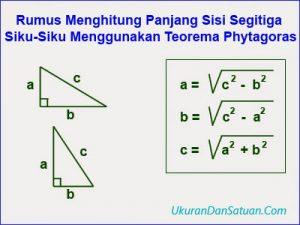 Rumus menghitung sisi segitiga siku-siku