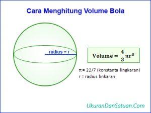 Rumus menghitung volume bola