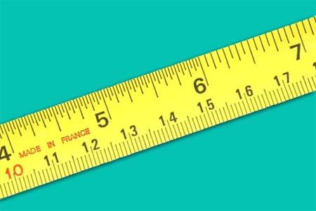 Meteran inch dan cm
