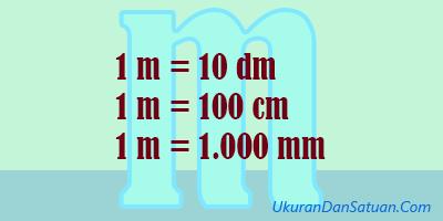 1 meter sama dengan 100 cm