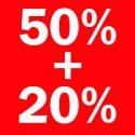 Diskon ganda 50 tambah 20 persen