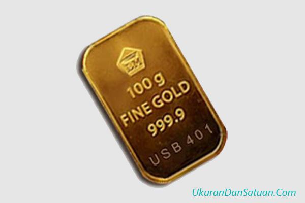 Emas batangan 100 gram