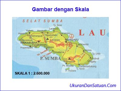 Gambar peta dengan skala