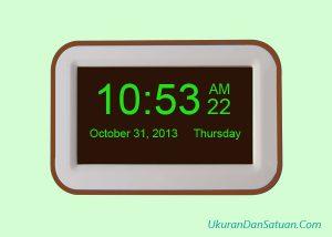 Jam digital berbasis 12 jam
