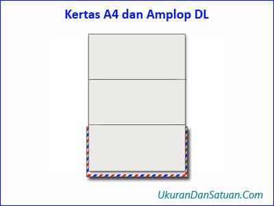 Kertas kuarto A4 dan amplop DL