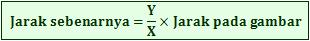 Rumus menghitung jarak sebenarnya