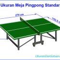 Ukuran meja pingpong standar