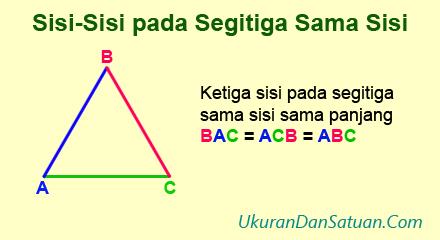 Sisi-sisi pada segitiga sama sis