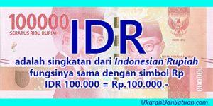 Arti IDR
