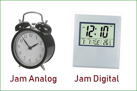 Jam analog dan jam digital