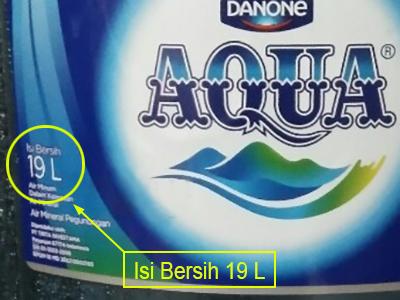 Aqua galon isi 19 liter