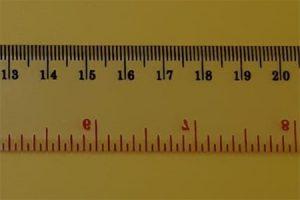 Mistar penggaris centimeter millimeter