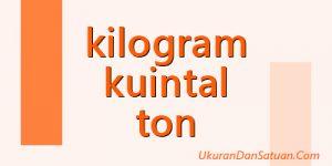 kg ton kuintal